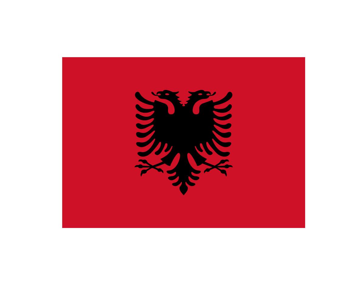 Fahne 90 x 150 cm Albanien
