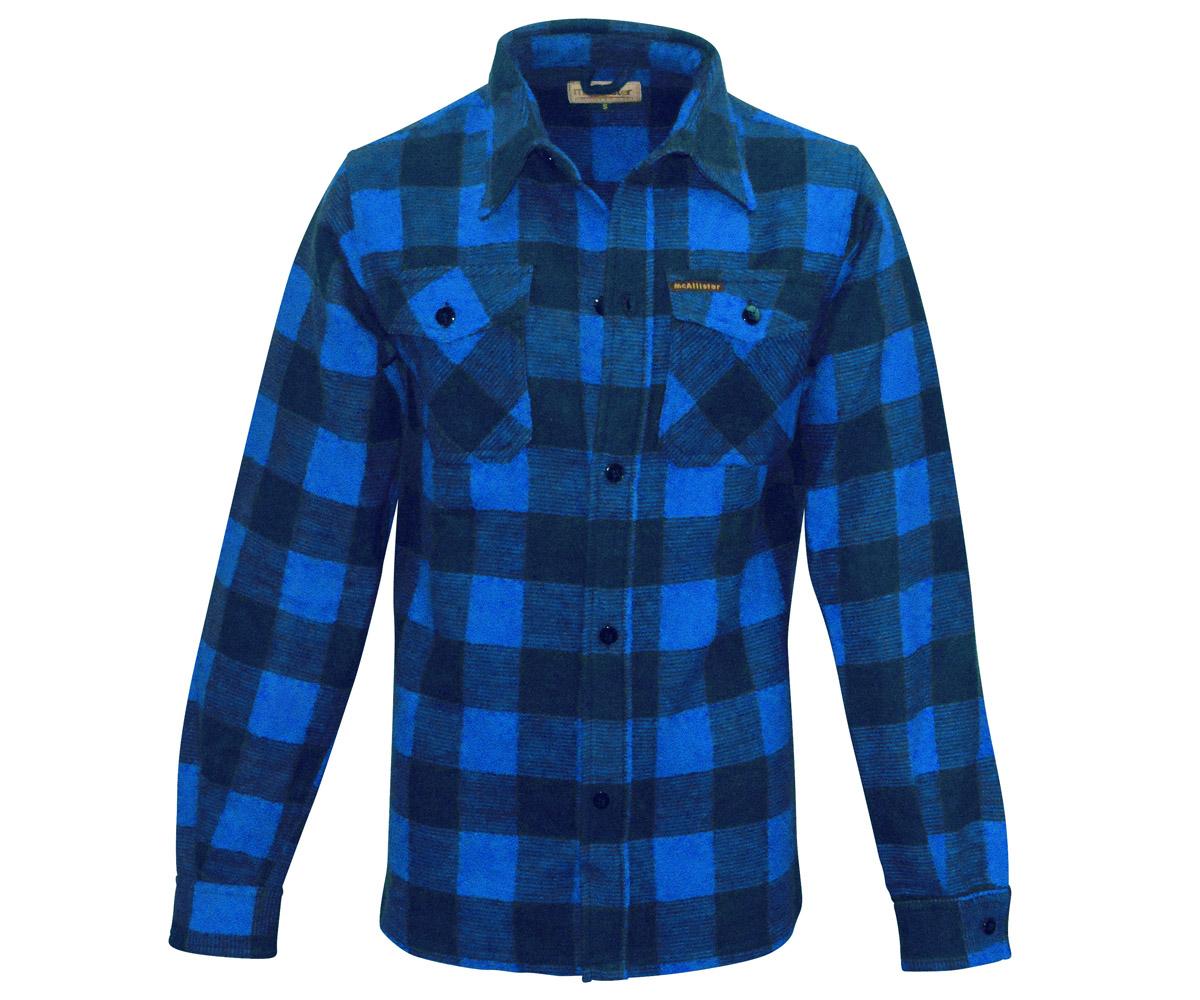 Holzfäller Hemd blau
