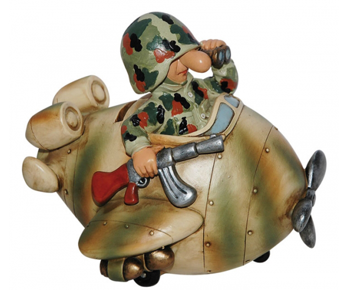 Fun Division Soldat Flugzeug Spardose Flecktarn FDF1