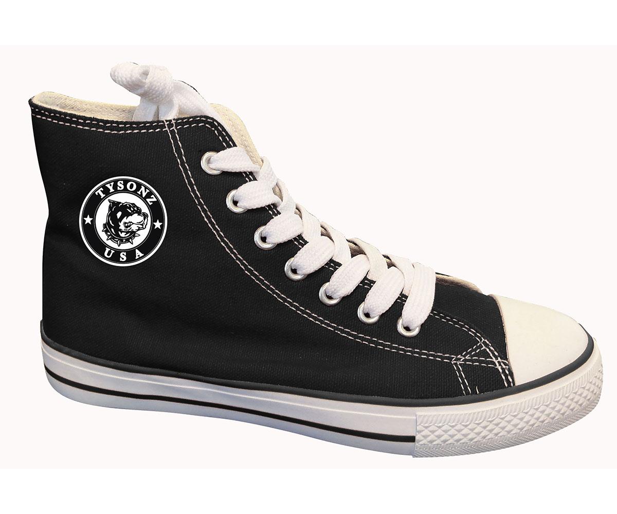 Sneakers hoch schwarz-weiß