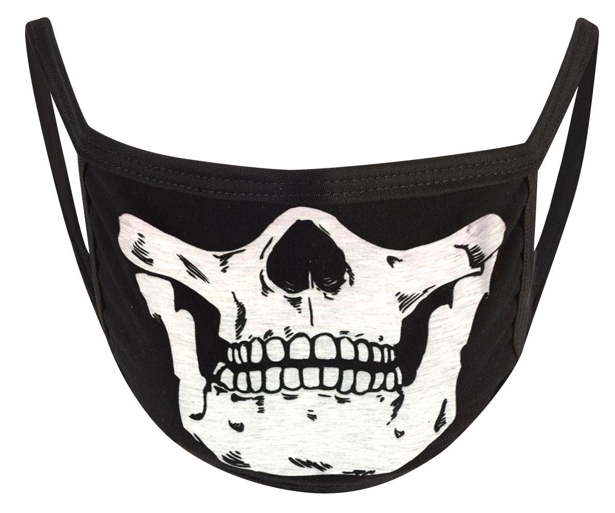 Bad to the Bones  Mund Nasen Maske