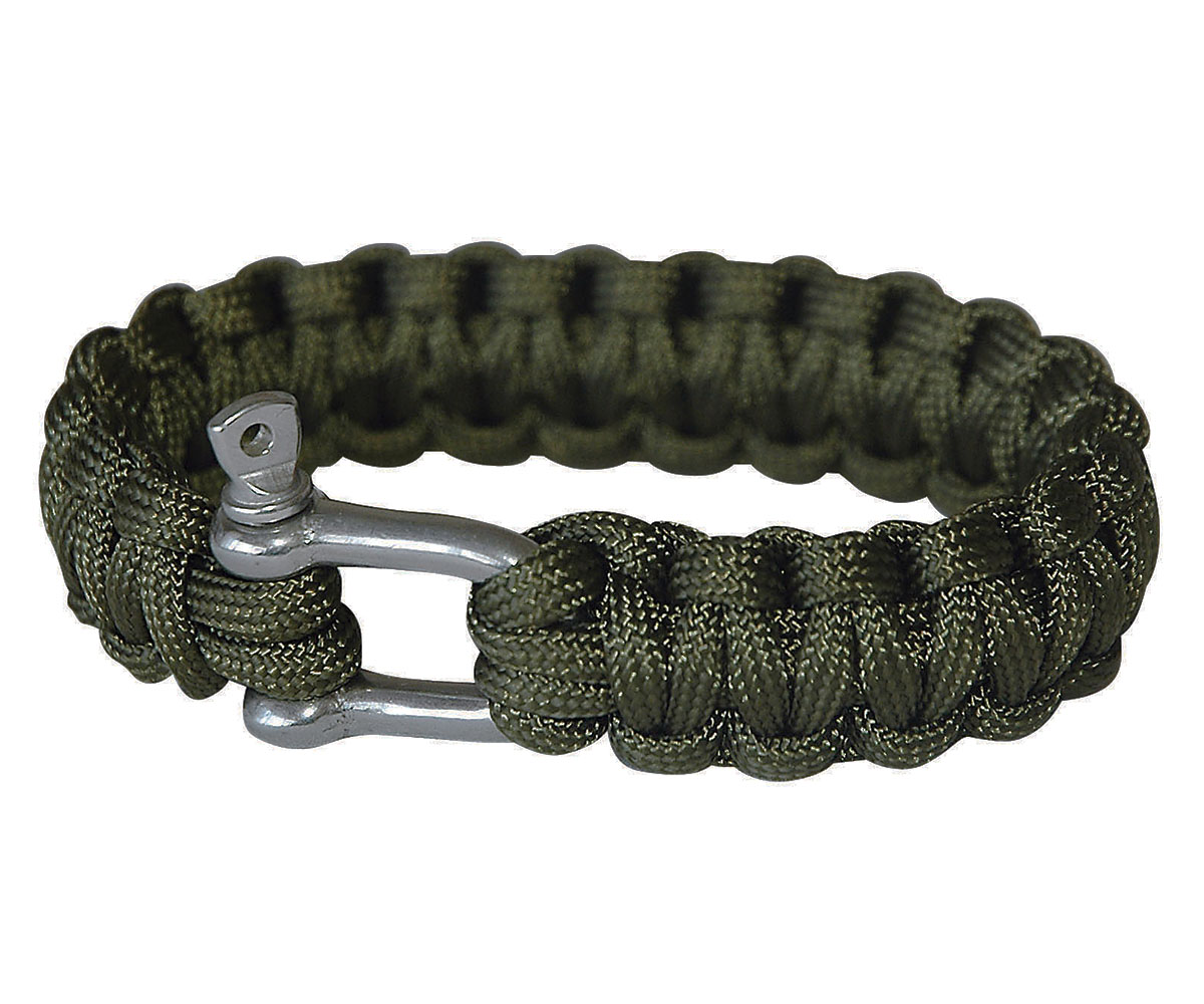 Paracord Armband Metallverschluß oliv