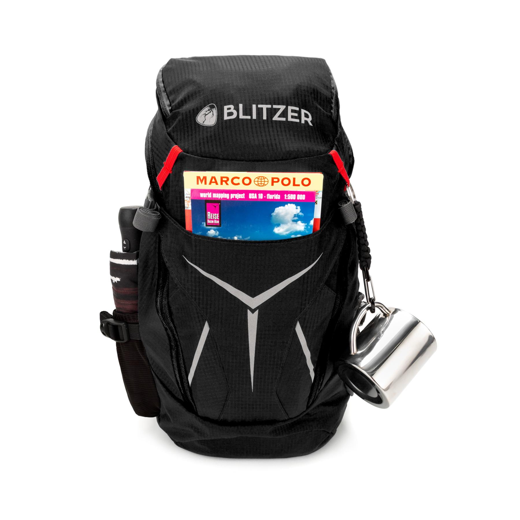 Blitzer Leichter Rucksack [420g] - 20L Fassungsvolumen Schwarz