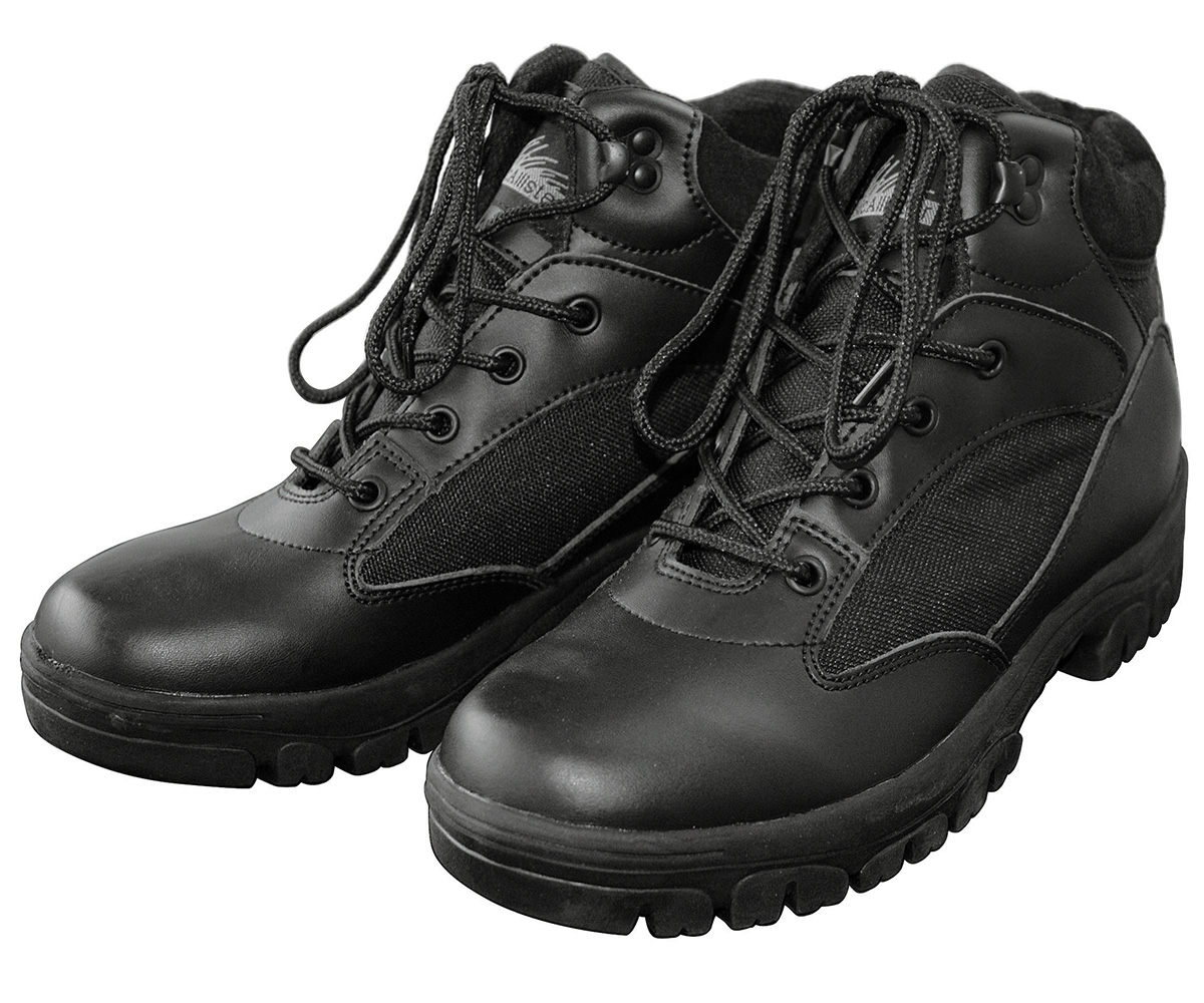 Semi Cut Outdoor Boots schwarz