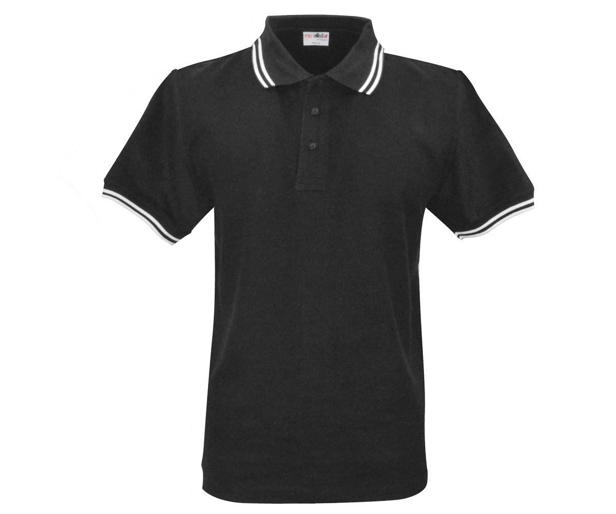 Polo Shirt Active Wear schwarz Streifen grau
