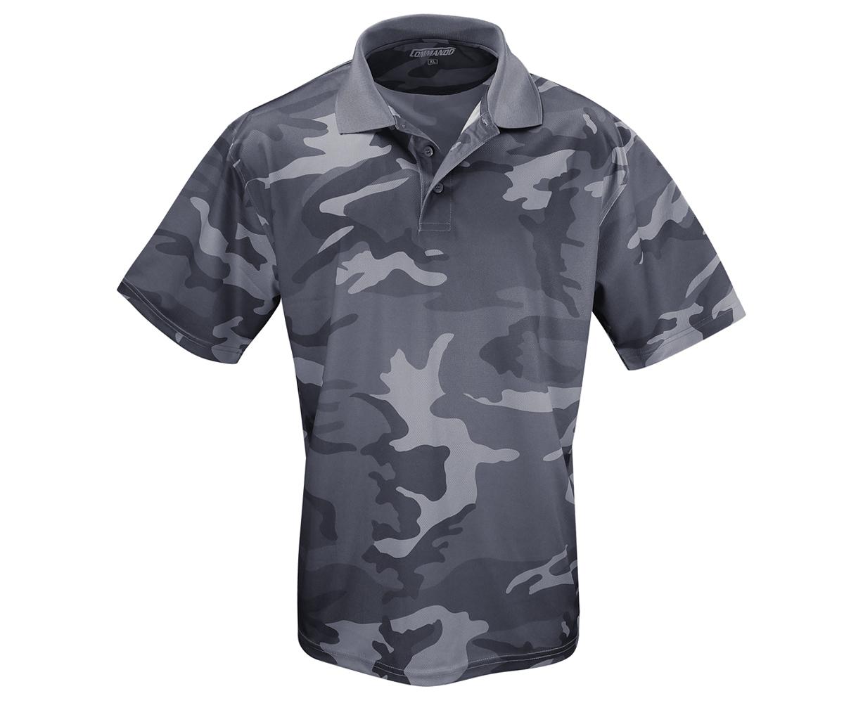 Tactical Polo Shirt QuikDry darkcamo