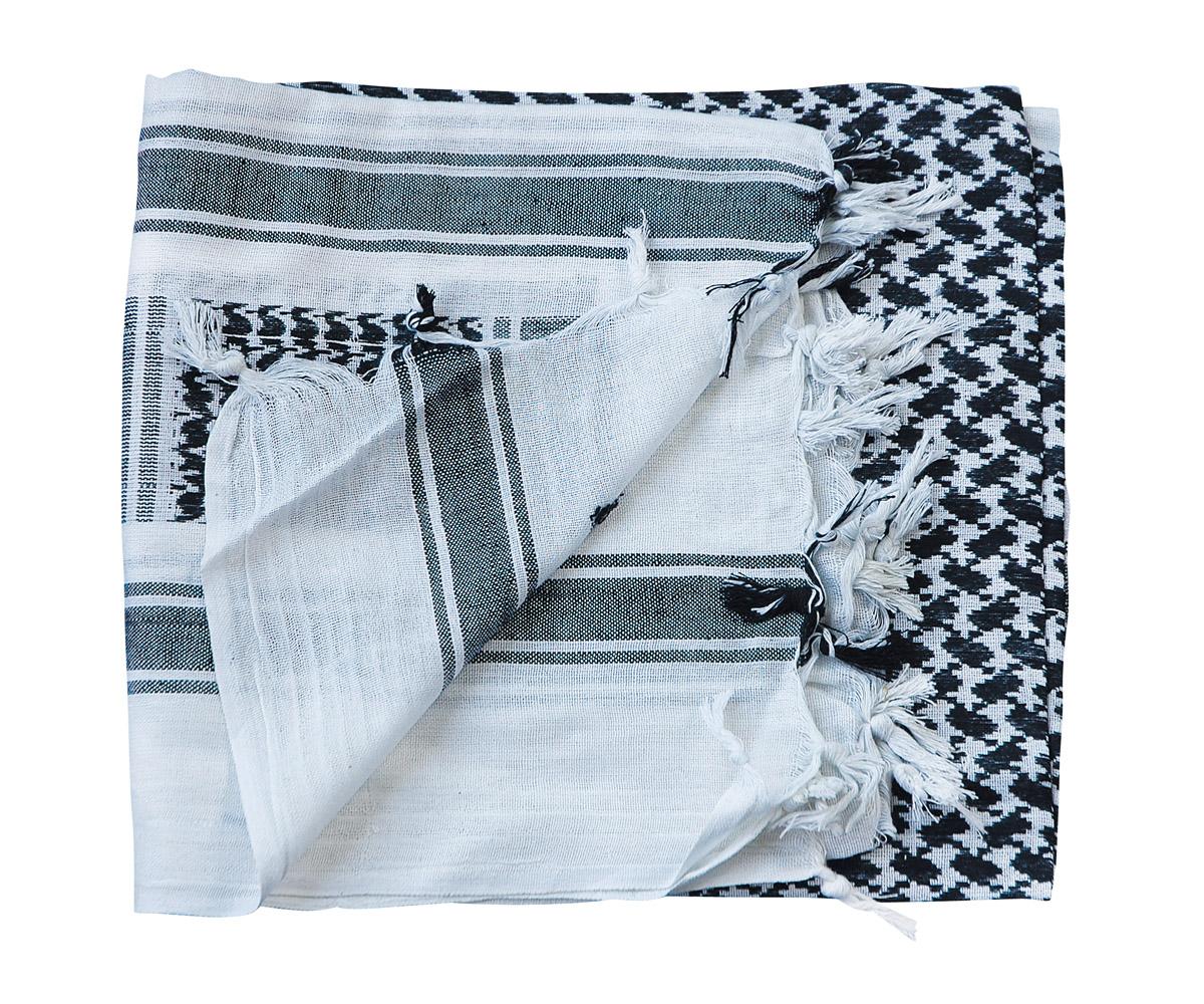 Shemagh Tuch weiß - schwarz