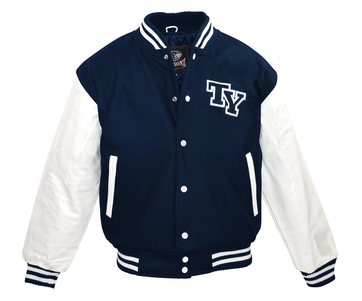 Baseball Jacke TY Logo navy - weiß