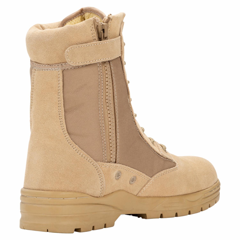 Patriot Style Outdoor Zipper Boots beige