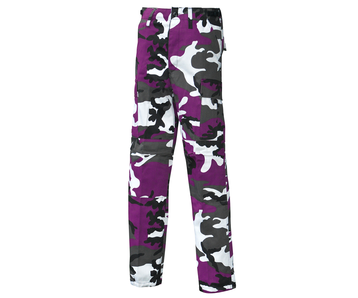 BDU Army Cargo Hose Purple camo