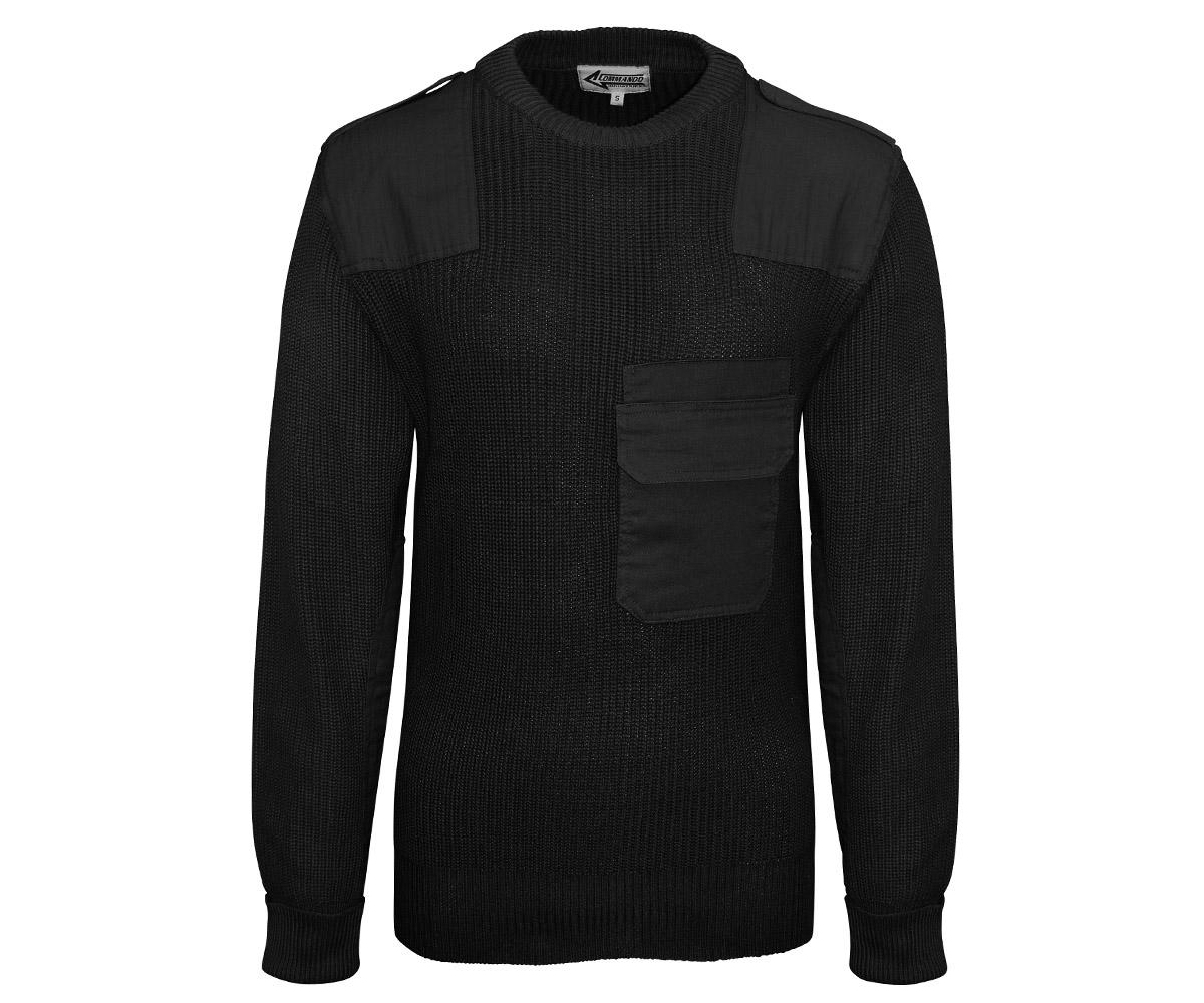 BW Pullover mit Brusttasche schwarz