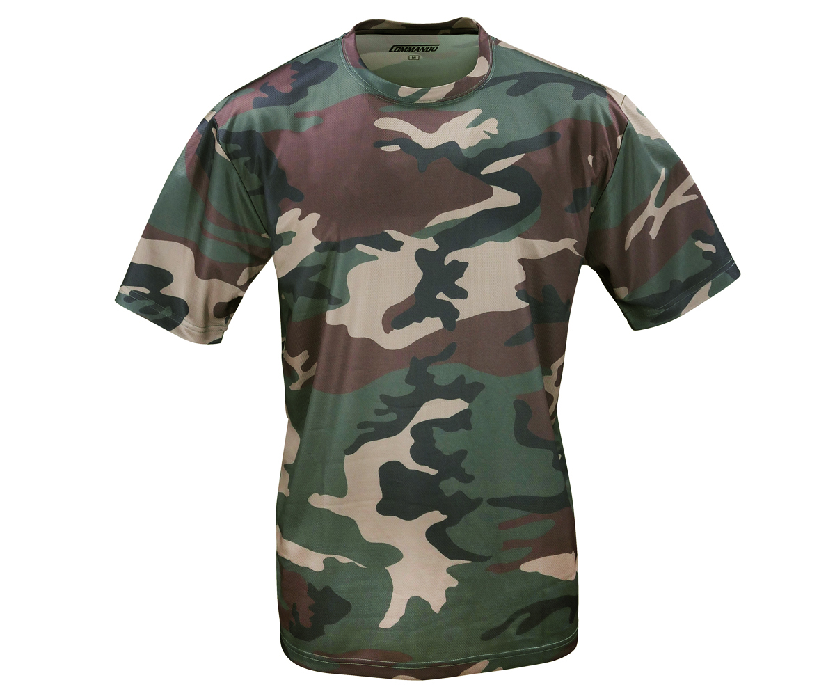 Tactical Funktions T-Shirt QuikDry woodland