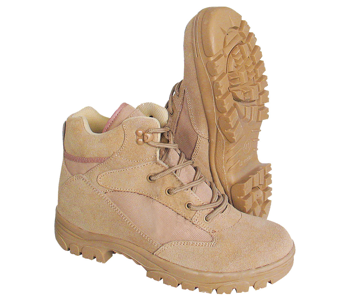 Semi Cut Outdoor Boots beige