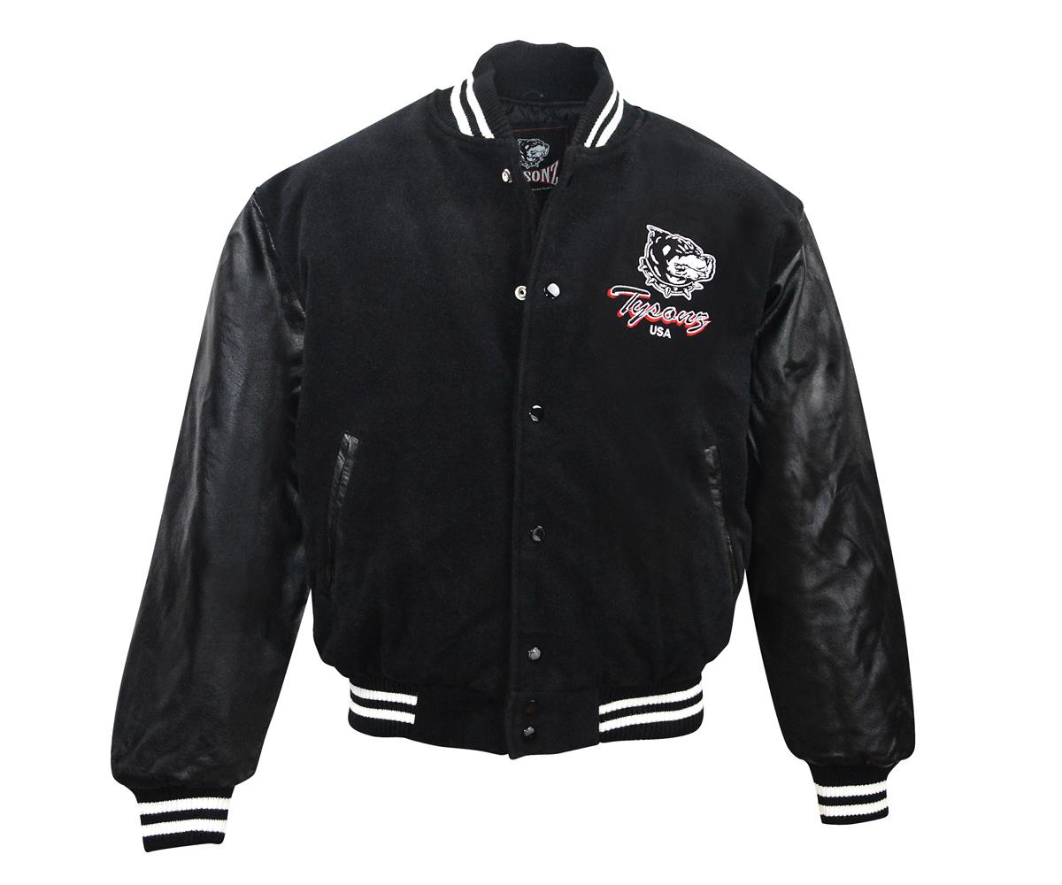 Baseball Jacke Pro Sporter II Logo echt Leder schwarz