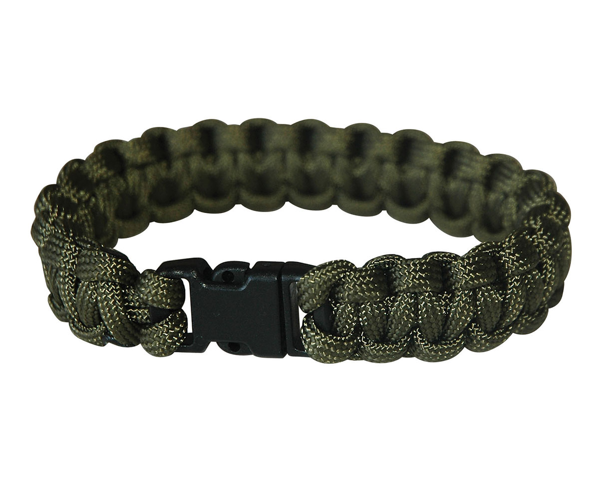 Paracord Armband Easy Klick oliv