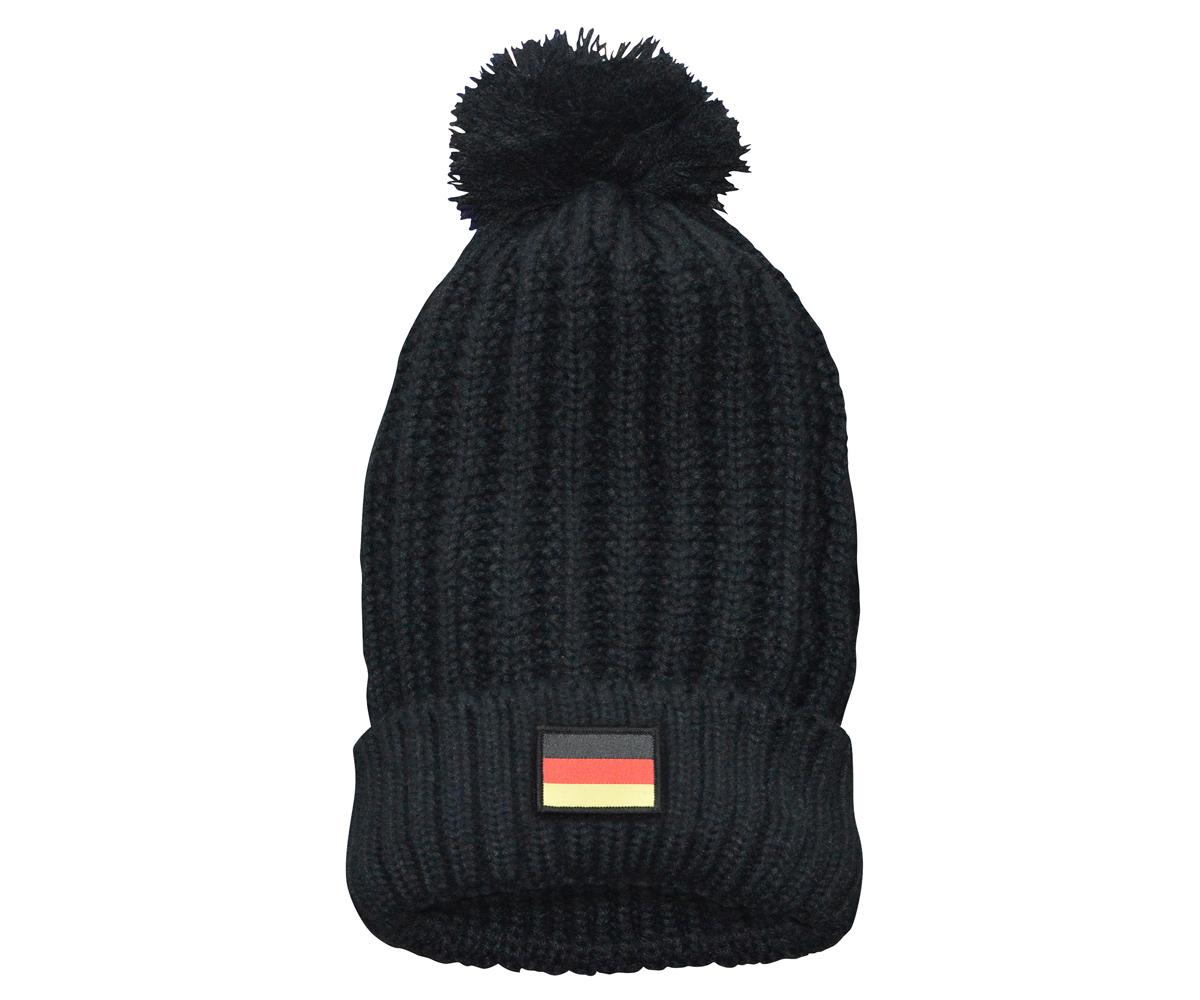 Bommelmütze mit Klettpatch Deutschland