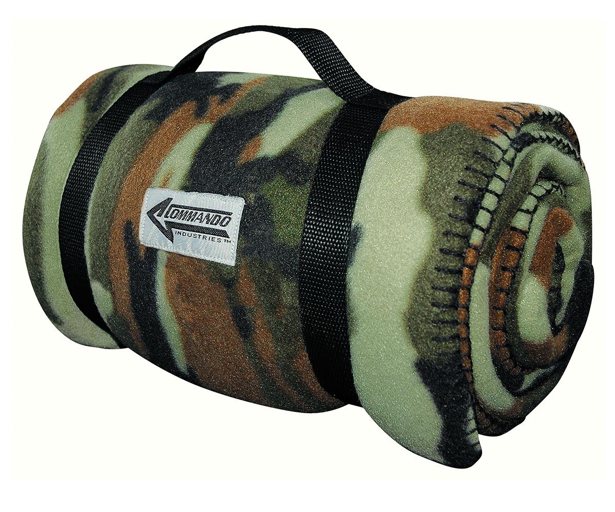 Decke Army Style Fleecedecke woodland camo