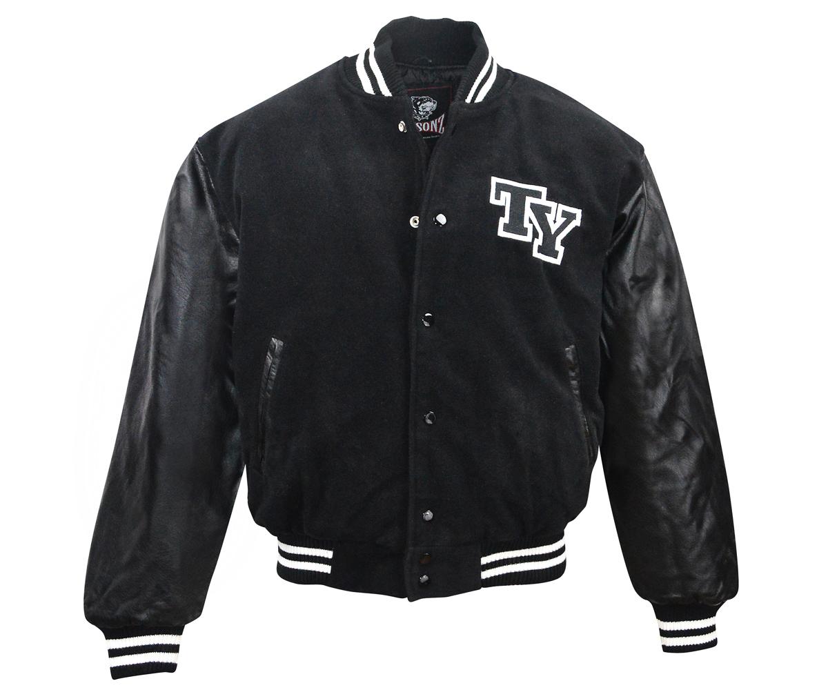 Baseball Jacke TY Logo schwarz
