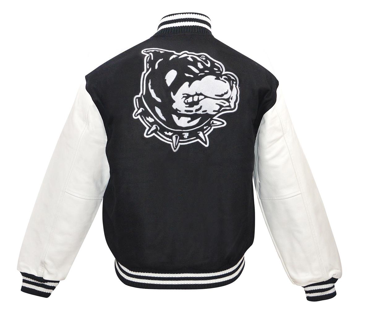 Baseball Jacke Graphic Dog schwarz - weiß