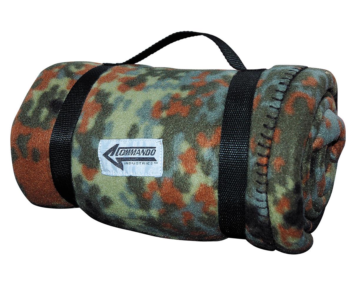 Decke Army Style Fleecedecke flecktarn